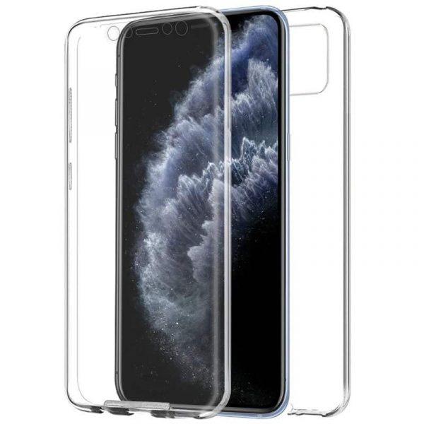 funda silicona 3d iphone 11 pro transparente frontal trasera1
