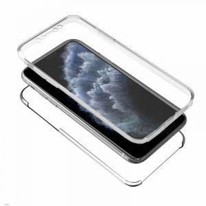 funda silicona 3d iphone 11 pro transparente frontal trasera2
