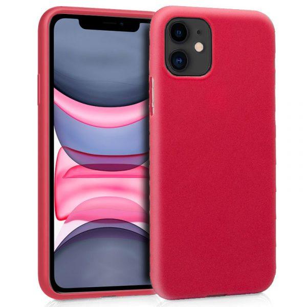 funda silicona iphone 11 rojo1