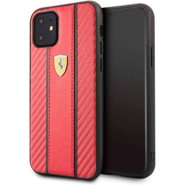 carcasa iphone 11 licencia ferrari rojo1
