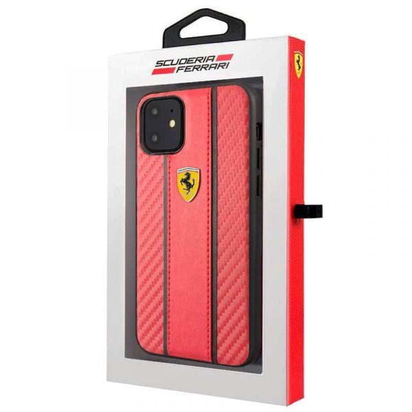 carcasa iphone 11 licencia ferrari rojo2