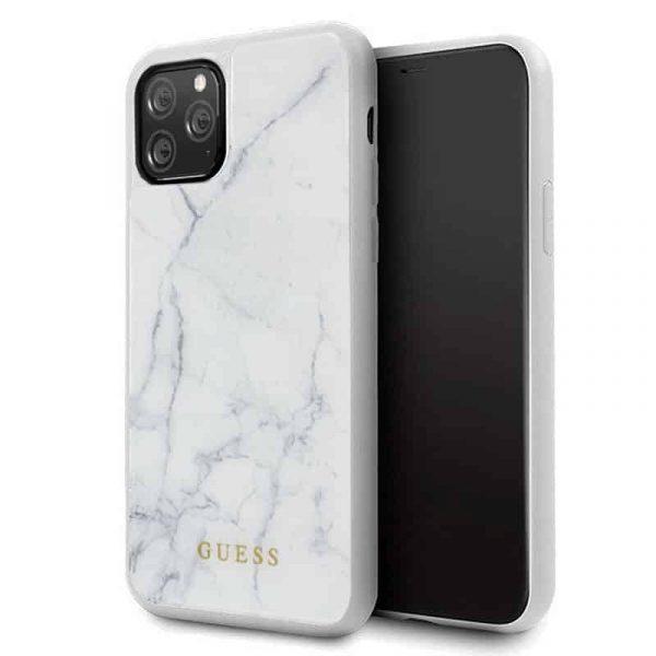 carcasa iphone 11 pro licencia guess marmol blanco1