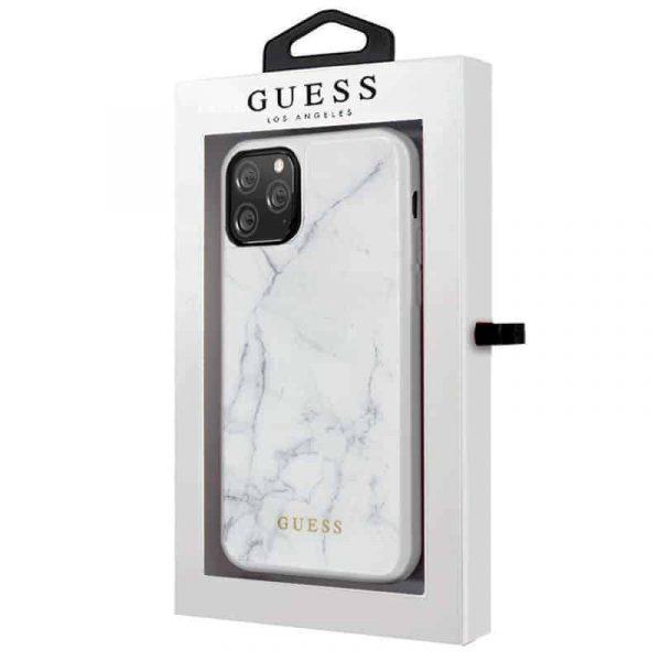 carcasa iphone 11 pro licencia guess marmol blanco2