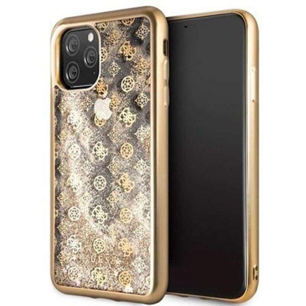 carcasa iphone 11 pro max licencia guess liquid dorado1