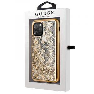 carcasa iphone 11 pro max licencia guess liquid dorado2