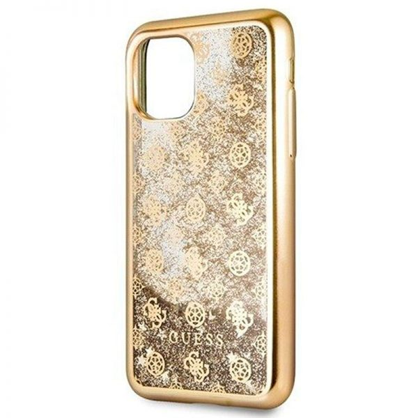 carcasa iphone 11 pro max licencia guess liquid dorado3