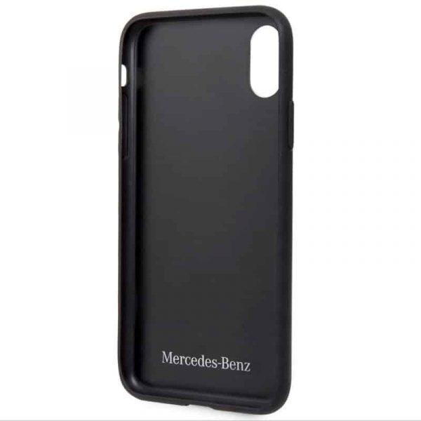 carcasa iphone x iphone xs licencia mercedes benz piel negra3