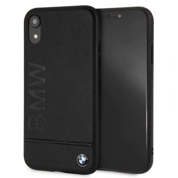 carcasa iphone xr licencia bmw piel negro1