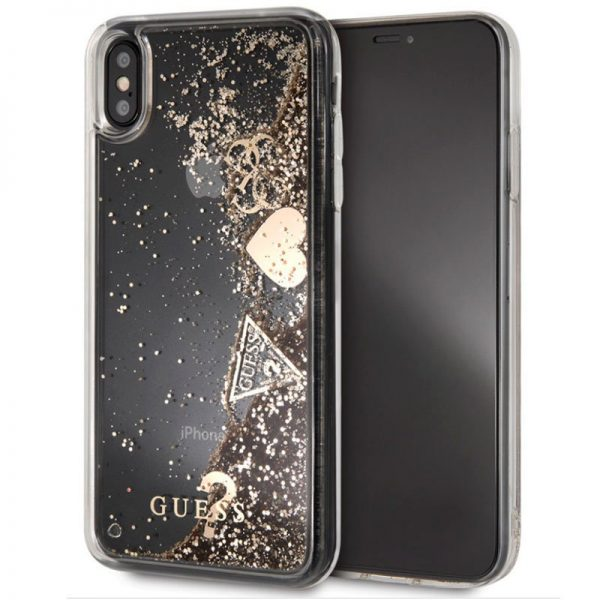 Carcasa iPhone XS Max Licencia Guess Liquid Dorado 1