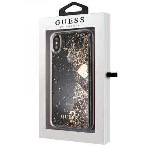 Carcasa iPhone XS Max Licencia Guess Liquid Dorado 4
