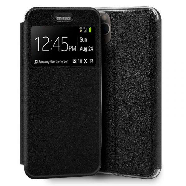 funda flip cover iphone 11 pro liso negro1