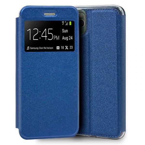 funda flip cover iphone 11 pro max liso azul1