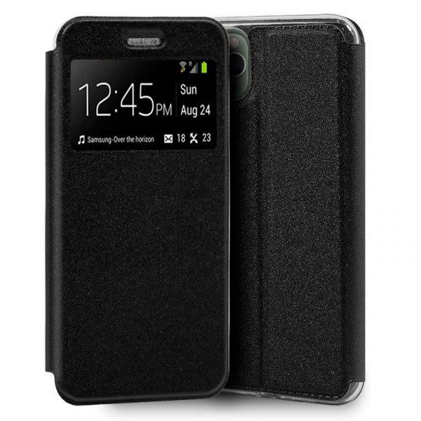 funda flip cover iphone 11 pro max liso negro1