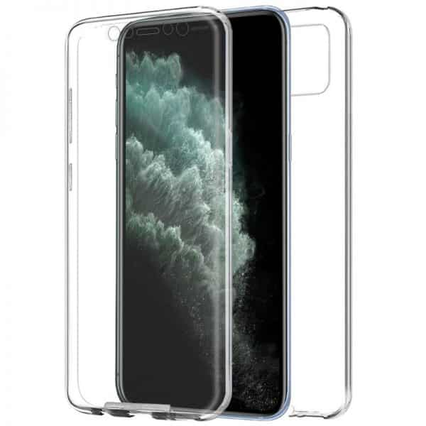 funda silicona 3d iphone 11 pro max transparente frontal trasera1