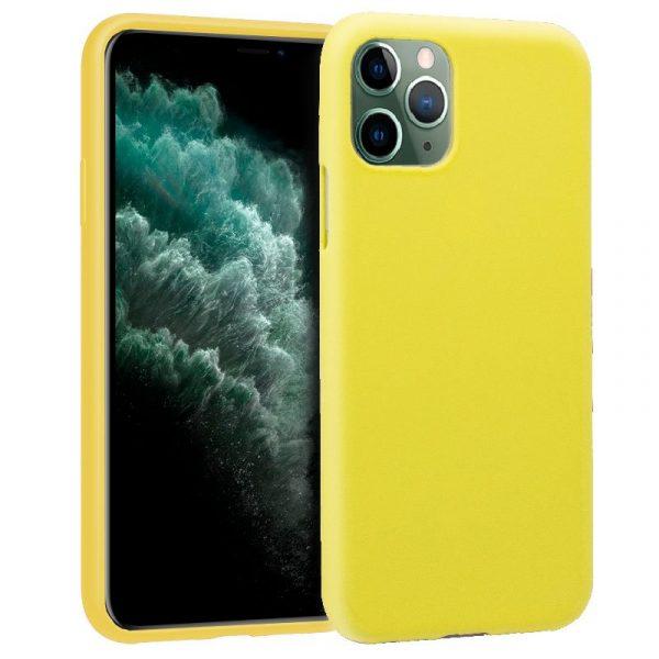 funda silicona iphone 11 pro max amarillo1