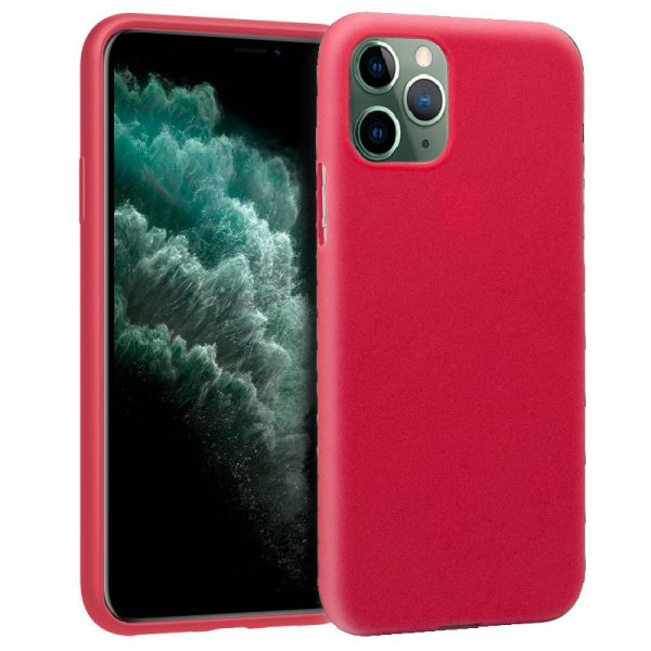 funda silicona iphone 11 pro max rojo1