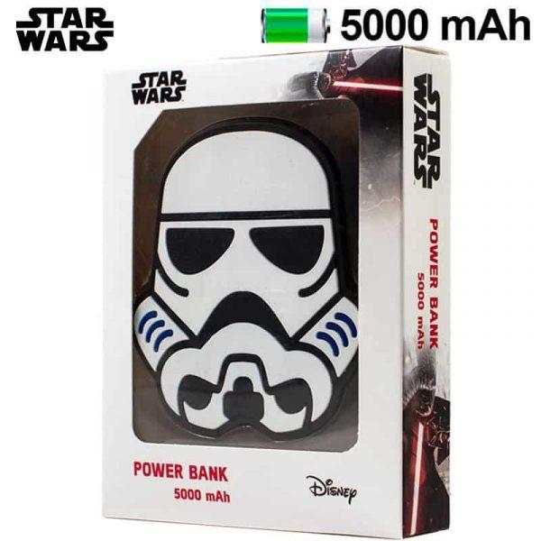 bateria externa micro usb power bank 5000 mah universal licencia star wars stormtrooper1