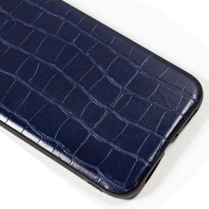 carcasa iphone 11 leather crocodile marino2