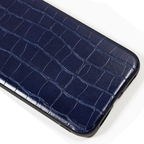 carcasa iphone 11 pro max leather crocodile marino2