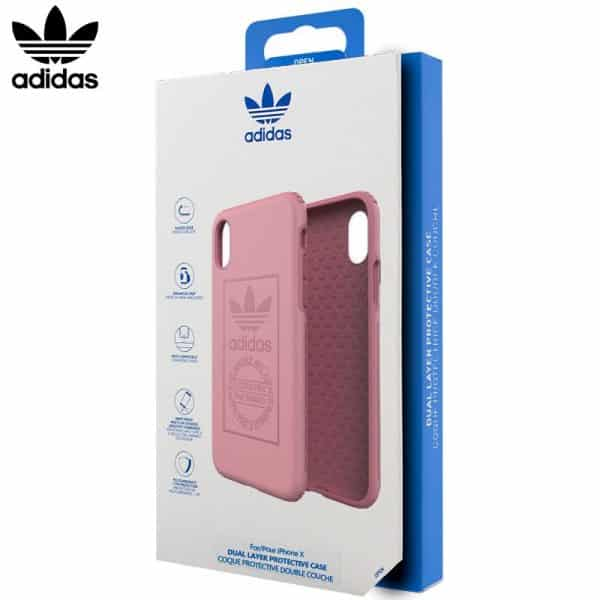 carcasa iphone x iphone xs licencia adidas hard rosa1