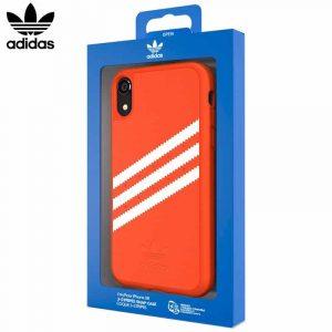 carcasa iphone xr licencia adidas rayas naranja2