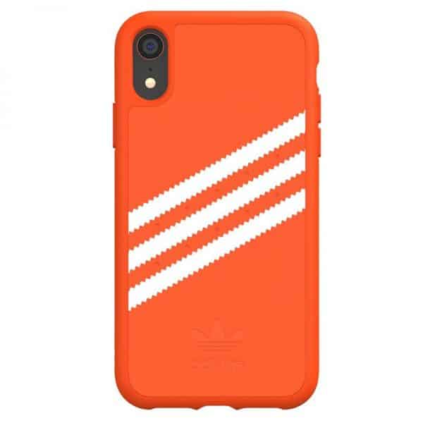 carcasa iphone xr licencia adidas rayas naranja3
