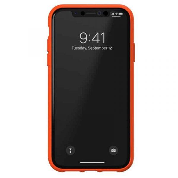 carcasa iphone xr licencia adidas rayas naranja4