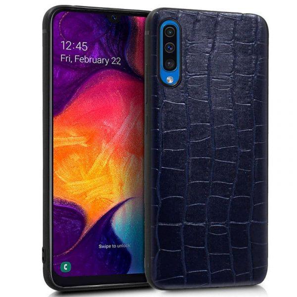 Carcasa Samsung Galaxy A50 / A30s Leather Crocodile Marino 1