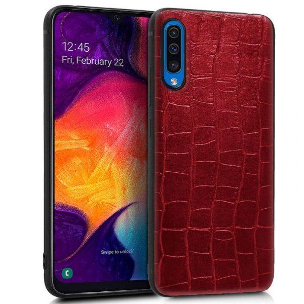 Carcasa Samsung Galaxy A50 / A30s Leather Crocodile Rojo 1