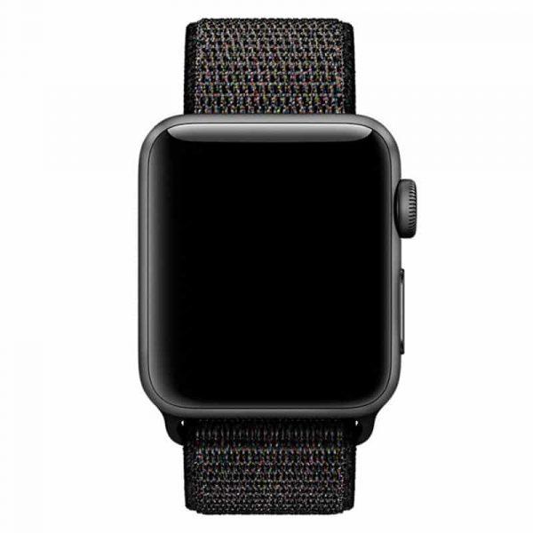 Correa Apple Watch Series 1 / 2 / 3 / 4 / 5 (42 / 44 mm) Loop Nylon Negro 3