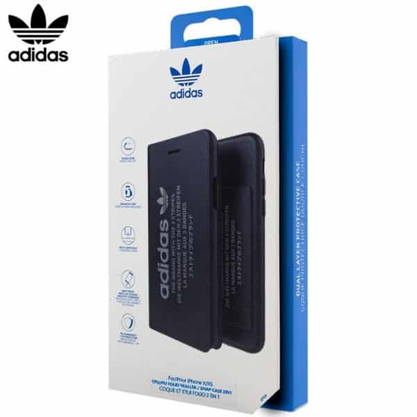 funda flip cover iphone x iphone xs licencia adidas 2 en 1 negra2