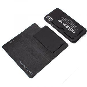 funda flip cover iphone x iphone xs licencia adidas 2 en 1 negra3