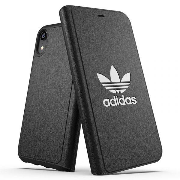 Funda Con Tapa iPhone XR Licencia Adidas Negro 2