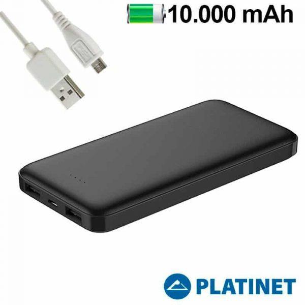 bateria externa universal power bank 10000 mah 2 x usb 21a polimero platinet1