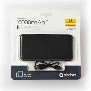 bateria externa universal power bank 10000 mah 2 x usb 21a polimero platinet3