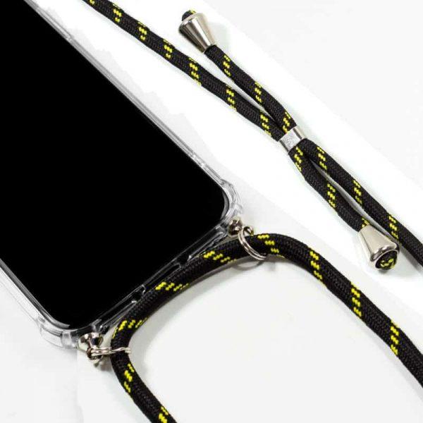 Carcasa Huawei P30 Lite Cordón Negro-Amarillo 2
