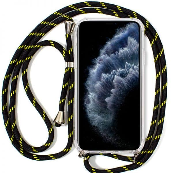 Carcasa iPhone 11 Pro Cordón Negro-Amarillo 1