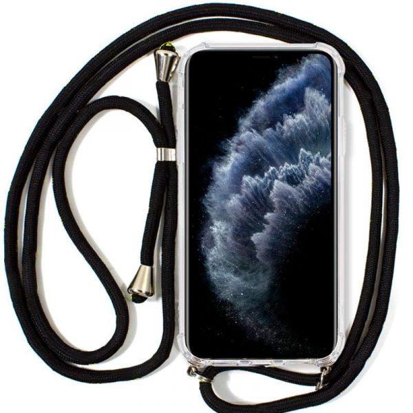 carcasa iphone 11 pro cordon negro1