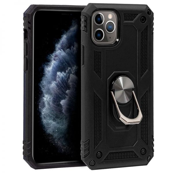 carcasa iphone 11 pro hard anilla negro1