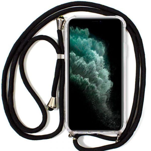 carcasa iphone 11 pro max cordon negro1