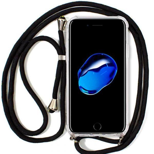 carcasa iphone 7 iphone 8 cordon negro1