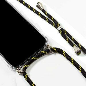carcasa iphone xr cordon negro amarillo2