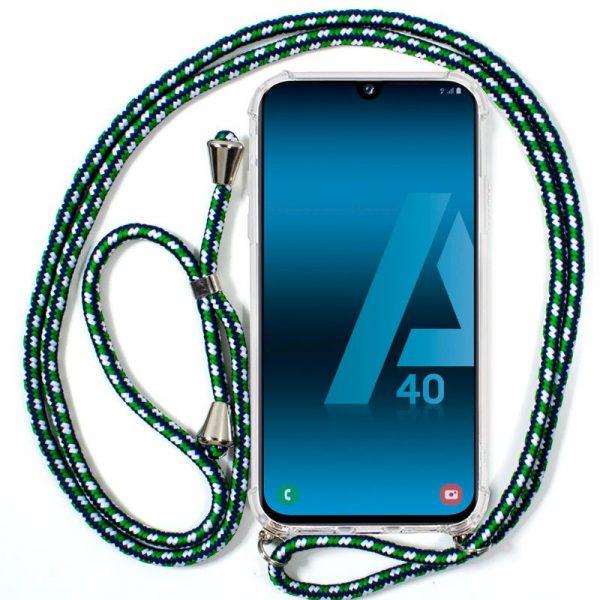Carcasa Samsung Galaxy A40 Cordón Verde 1