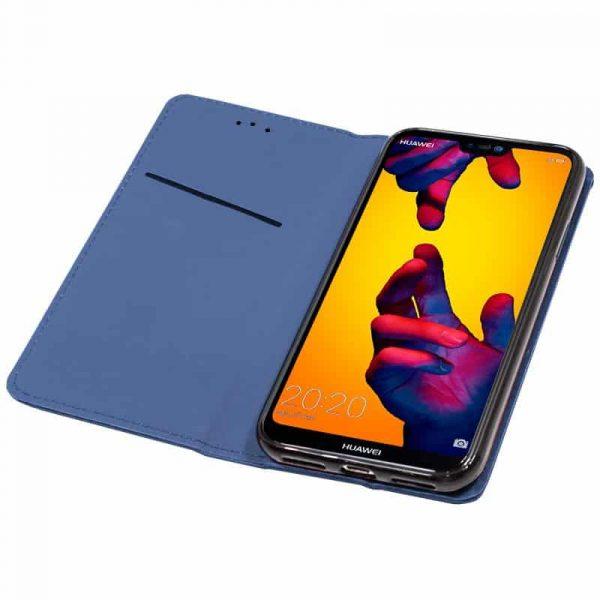 Funda Con Tapa Huawei P20 Lite Liso Azul 2