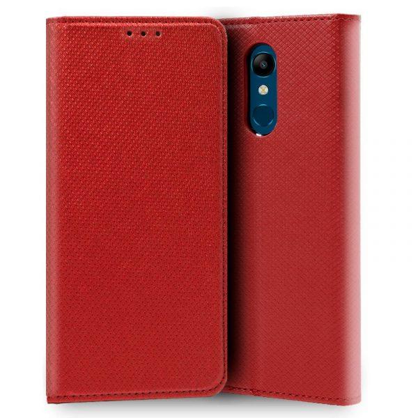funda flip cover lg k11 liso rojo1