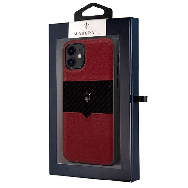 carcasa iphone 11 licencia maserati piel rojo2