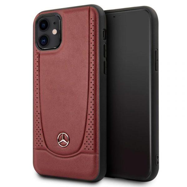Carcasa iPhone 11 Licencia Mercedes-Benz Piel Rojo 1