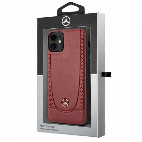 Carcasa iPhone 11 Licencia Mercedes-Benz Piel Rojo 2