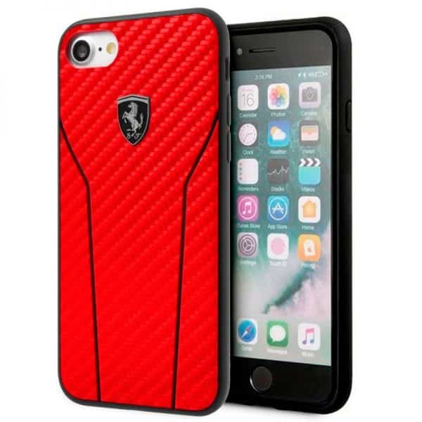 carcasa iphone 6 6s licencia ferrari hard rojo1