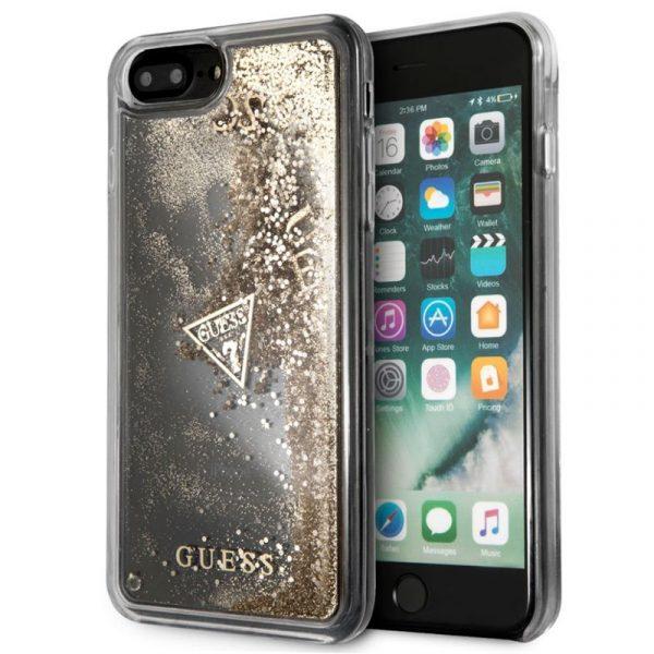 carcasa iphone 6 plus licencia guess liquid dorado1